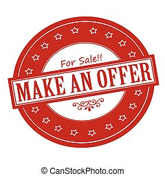 Make an offer - Rubber stamps with text make an offer...