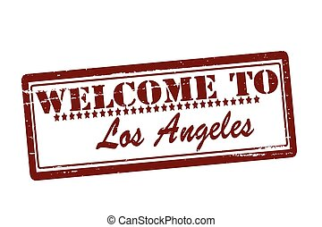Welcome to Los Angeles - Rubber stamps with text welcome to...