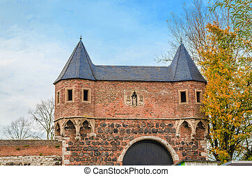 Gate Fortress Zons - Medieval city gate of the fortress Zons...