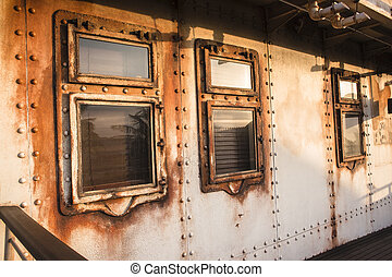 Ship Cabin Windows - Old ship cabin windows portholes...