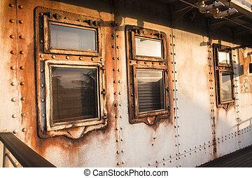 Ship Cabin Windows - Old ship cabin windows portholes...