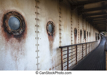 Ship Old Decor - Old ship deck portholes...