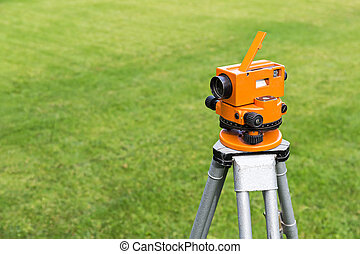 Theodolite - Surveyor equipment optical level or theodolite...