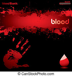 blood web - black and red blood inspired web page background...