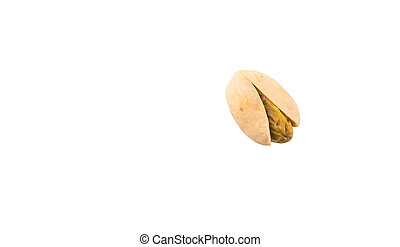 Pistachio Nuts - Pistachio nuts over white background