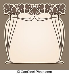 Vector art nouveau frame. - Vector art nouveau frame with...