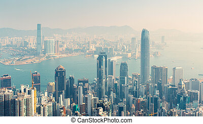 Hongkong - Day view of Hongkong, China