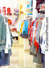 Childrens shop - Photo of shop of childrens clothes through...