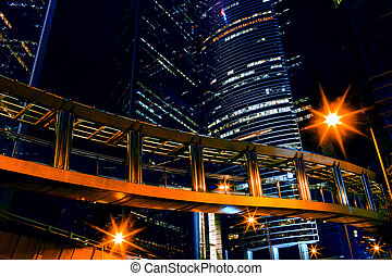 Hongkong - Night view of Hongkong, China