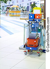 Cleaning cart - Service of cleaning of the big premises