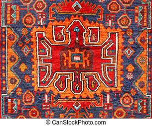 Carpet - Beautiful ancient oriental colorful carpet with...