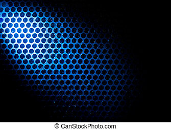 Bubble wrap lit by blue light Abstract background