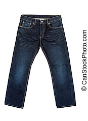 Jeans on isolated white background