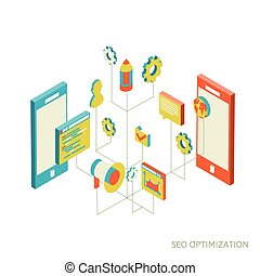 social networks - Conceptual image with social networks....
