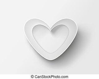 Heart made of paper.