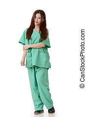 healthcare worker - Asian woman of healthcare worker on...
