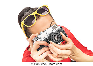 Girl with the camera.