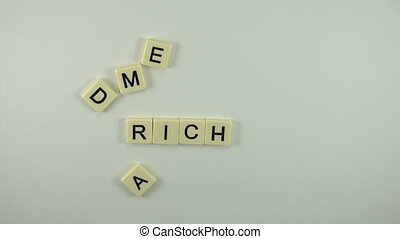 Rich Media -Spelled Out With Letter - A sexy women hand...