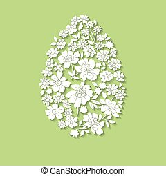 Floral card for Easter day Happy Easter greeting card -...