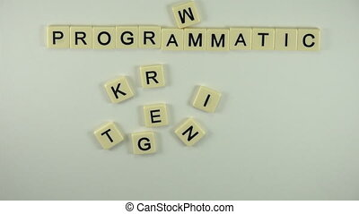 Programmatic Marketing-Spelled Out - A sexy women hand model...