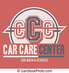 Car Care Center label t-shirt - Car Care Center typographic...