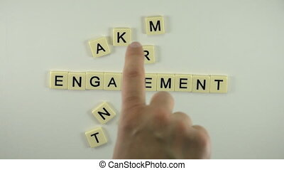 Engagement Marketing - Spelled Out - A sexy women hand model...
