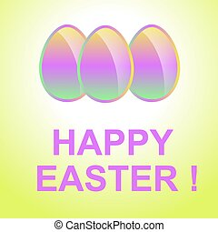 Holiday Easter background. - Holiday background with red...