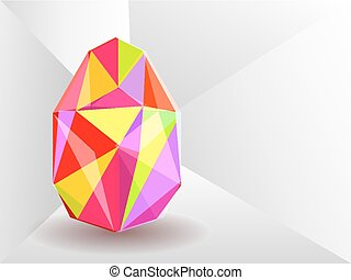 Crystal background with Easter egg.