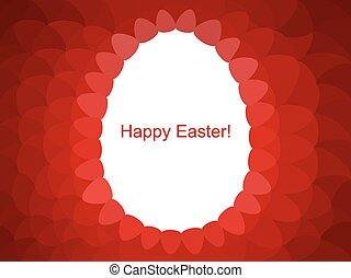 Vector background with Easter egg.
