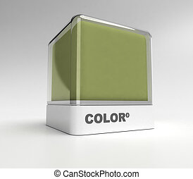 Army green color block - Design block in a army green color