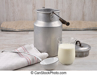 Milch im Glas