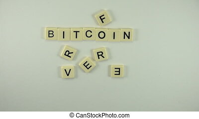Bitcoin Forever - Spelled Out - A sexy women hand model...