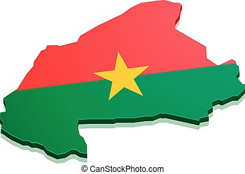 Map Burkina Faso - detailed illustration of a map of Burkina...