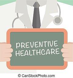 Medical Board Preventive Healthcare - minimalistic...