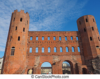 Torri Palatine Turin - Palatine towers Porte Palatine ruins...