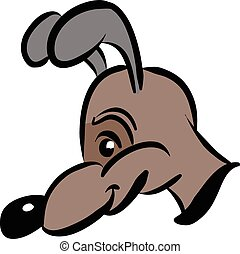 cartoon style dog in brown