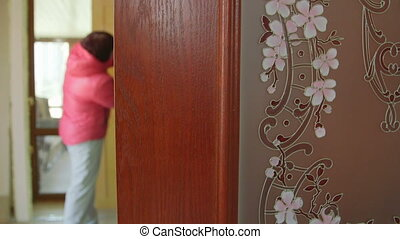 Dolly: Customer looking for new internal door in the doors store showroom