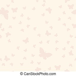 Seamless pattern of butterflies on a beige background
