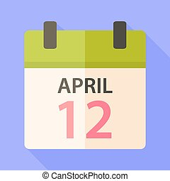 Easter calendar with date 12 april