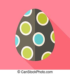 Easter egg with big circles