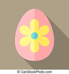 Easter egg with big flower