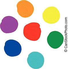 oil paint set in seven colors