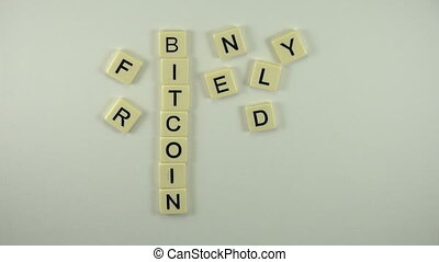 Bitcoin Friendly - Spelled Out - A sexy women hand model...
