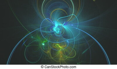 Fractal background in a cold colors - Digitally generated...