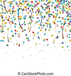 falling confetti endless - colored falling confetti seamless...