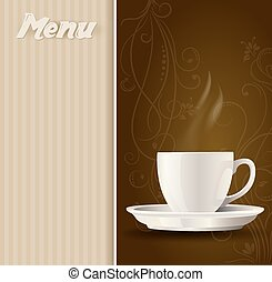 coffee cup on menu background