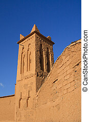 architecture of a moroccan casbah - details of architecture...