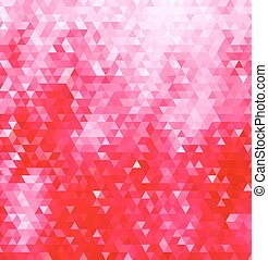 Pink triangles background - Abstract geometric background...