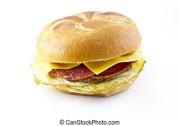 Taylor Ham Breakfast Sandwich - Taylor ham, pork roll, egg...