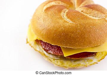 Taylor Ham Breakfast Sandwich - Taylor ham, pork roll, egg...